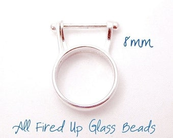 8MM Sterling Silver Interchangeable Bead Ring