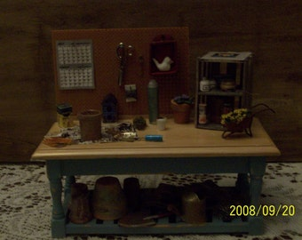 miniature potting bench