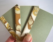 wallet-sized mini notebook with vintage wallpaper