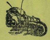 SALE Maine Lobster on 6-12 month yellow onesie