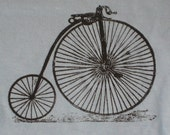 Old Style Bicycle on blue t-shirt, size 2