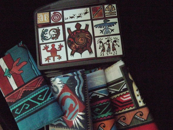 Nice Collection of Southwestern Supplies Four Handkerchiefs and a New Set of Stamps Ready to give