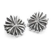Coral-mushroom earrings
