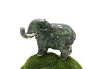 elephant figurine, miniature elephant, porcelain sculpture
