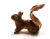 squirrel figurine, beautiful red squirrel, porcelain miniature