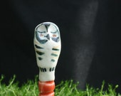owl plant stake - the owl perch - garden art