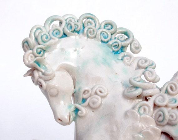 Pegasus - sculpture - The cloud born horse