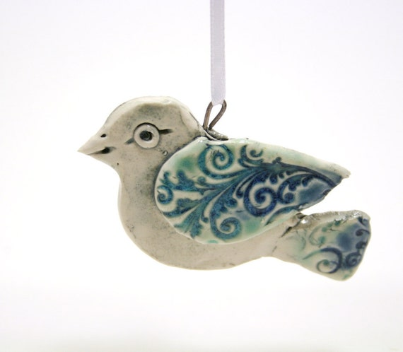 Christmas ornament - Little Damask bird
