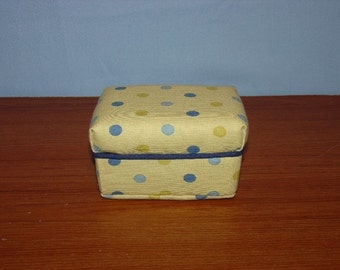 Yellow with Blue Polka Dots  Doll Ottoman fits Blythe - Barbie and other 11 1/2 inch dolls