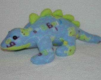 Blue Plush Stegosaurus Dinosaur