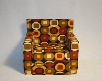 18 Inch Doll Armchair - Geometric Shapes - Modern Style