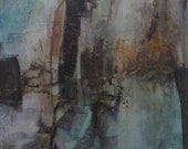 ORIGINAL CRESCENDO Music Abstract Painting Art Oil - ABSTRACT