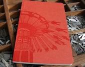 letterpress notebook Swings carnival