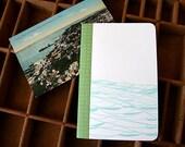 letterpress notebook Water landscape