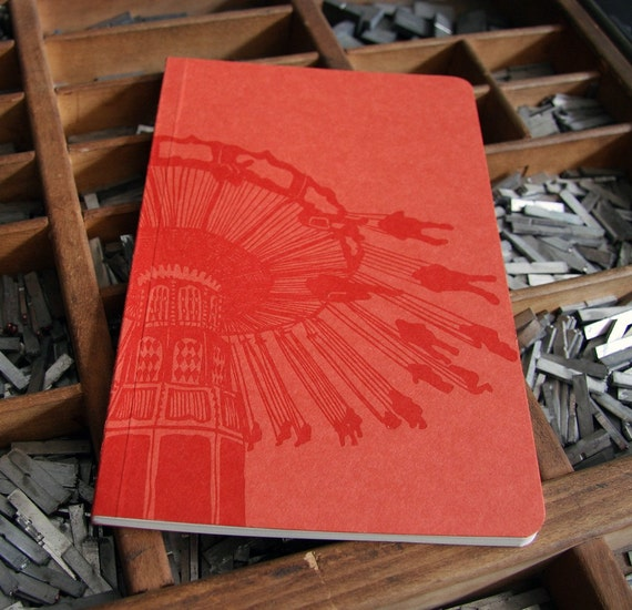 letterpress notebook Swings carnival
