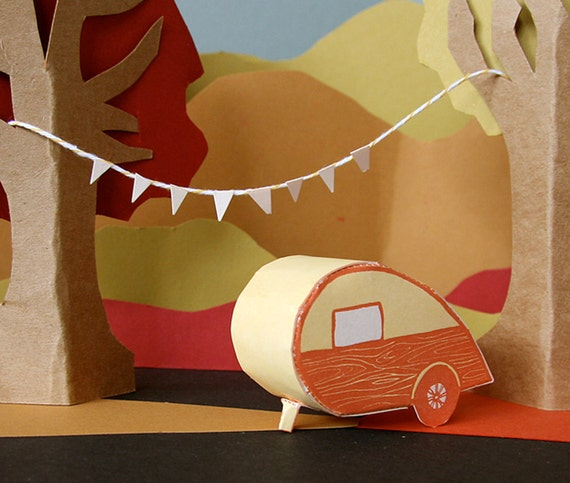letterpress card DIY teardrop camper