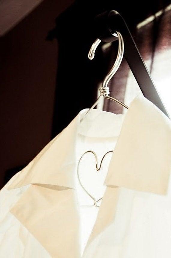 Silver Lingerie Hanger The Original I Heart You Hanger by LilaFrances
