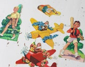 vintage children boy paper ephemera