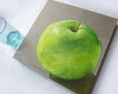 Original Painting - Green Apple
