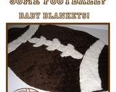 Football Baby Blanket / Lovey - Sewing Pattern - eBook - PDF
