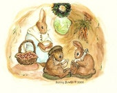 Rabbit's Den ( 8.5 x 11 inch  print from my original illustration)