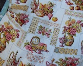 4 Yards of Vintage 1970s Kitchen Dining Room Print Fabric Tablecloth
