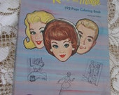 VIntage 1964 Barbie Ken and Midge Coloring Book