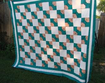 Vintage Bowtie Pattern Quilt Top