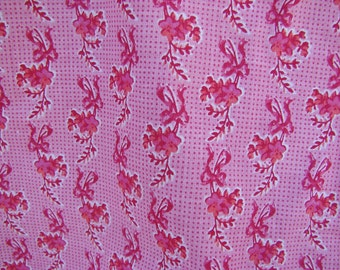2 Plus Yards of Tiny Pink Floral Cotton Print Fabric