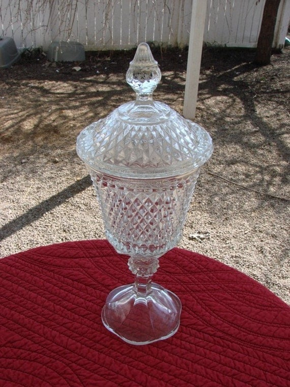 Beautiful Vintage Crystal Diamond Point Tall By Thecherrychic
