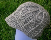 Skullie Beanie with visor - gray