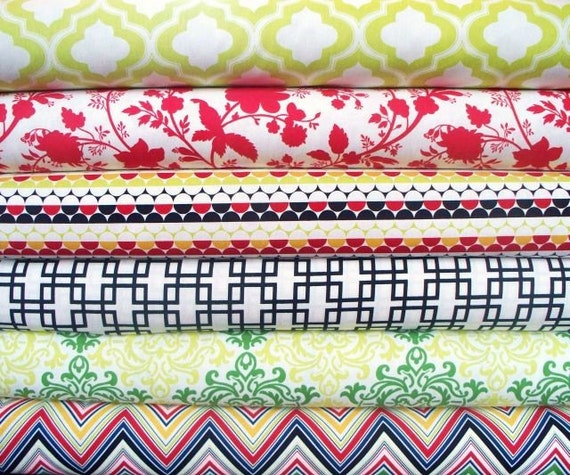 Anna Griffin, Darcey Set in Red and Green, 6 Full Yards, BUY MORE AND SAVE