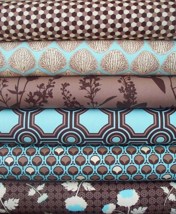 CLOSEOUT Joel Dewberry Ginseng Fabric Set In Flax 6 Half