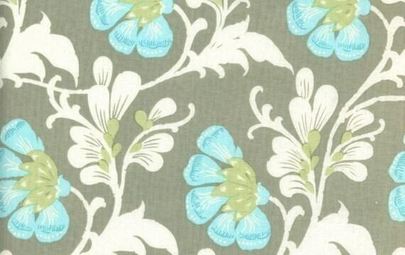 Amy Butler, Sweet Jasmine in Grey, Daisy Chain Fabric, 1 Yard