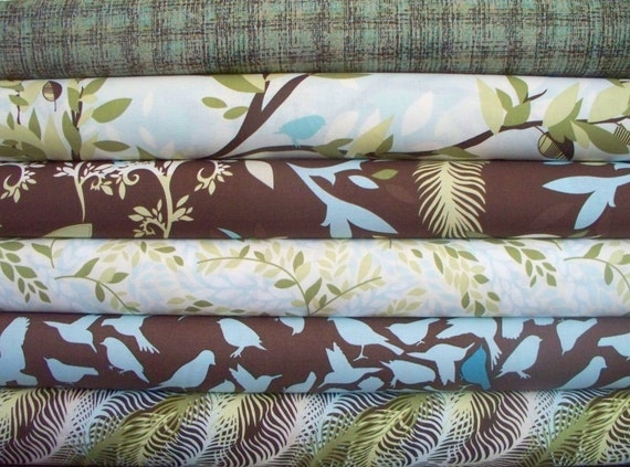 Studio e, Natureology Fabric Set in Brown, 5 Half Yards