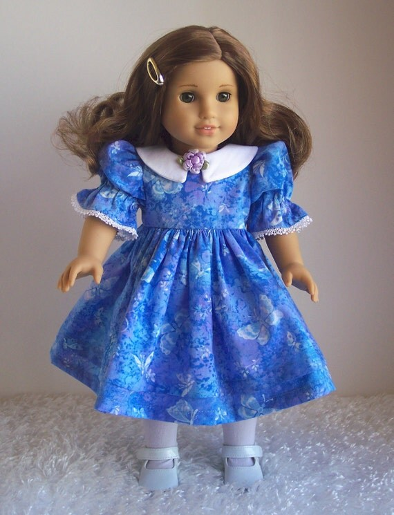 American Girl Doll Clothes-Blue Party Dress-18 inch doll