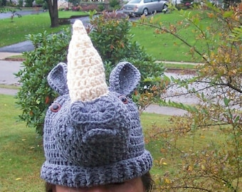 Gray Rhinoceros  hat