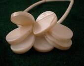 White Shell Hair Elastic Flower
