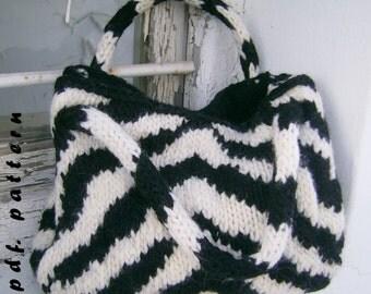 The zebra bag PDF pattern