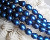 Cobalt Blue Freshwater Pearl Beads