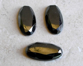 Hematite Cabochons Vintage Faceted Genuine Hematite Cabochon Collection For Jewelry Making