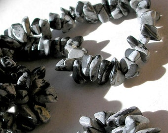 Snowflake Obsidian Chip Beads Endless Strand Gemstone Beads Nugget Beads For Jewelry Making