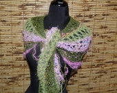 Hand Knitted Shawl  LILY POND