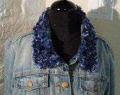 Dark Blue Knitted Collar