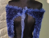 Sapphire Blue Knitted Wrap