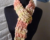 Hand Knitted Scarf Tangerine Suprise