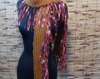 Hand Knit Scarf  SAHARA