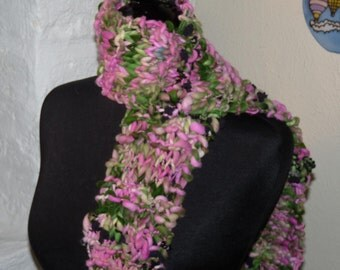 Watermelon Hand Knitted Scarf VEGAN