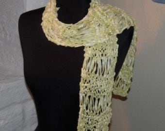 Hand Knitted Scarf YELLOW CHRISTINA