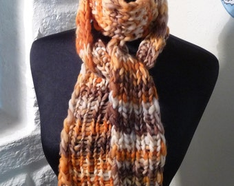 Wool Knitted Scarf GOLDEN TREASURE